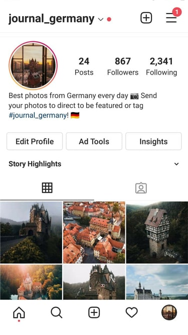 🇩🇪 0.9k Travel Account 2