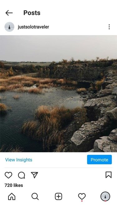 Travel Instagram account for sale