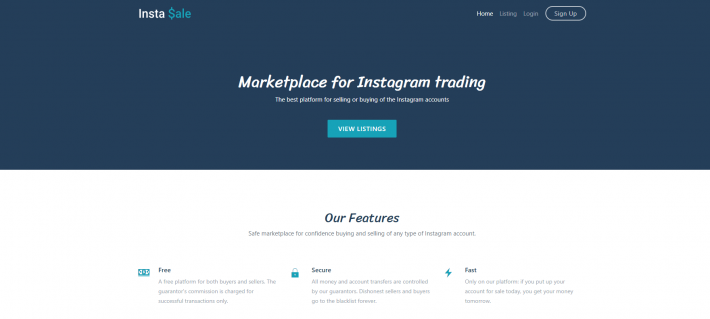 marketplace for Instagram trading